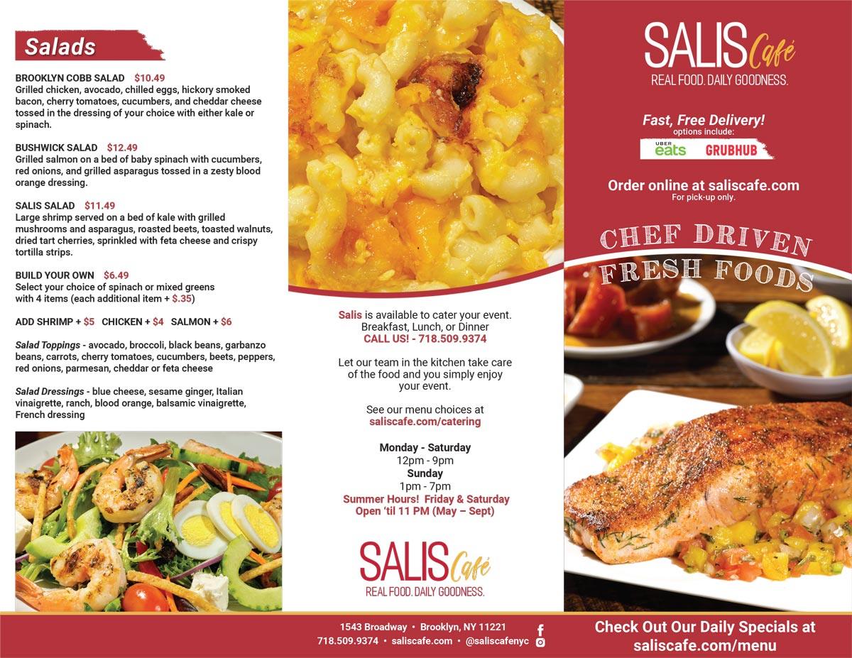 Salis Cafe Menu Outside