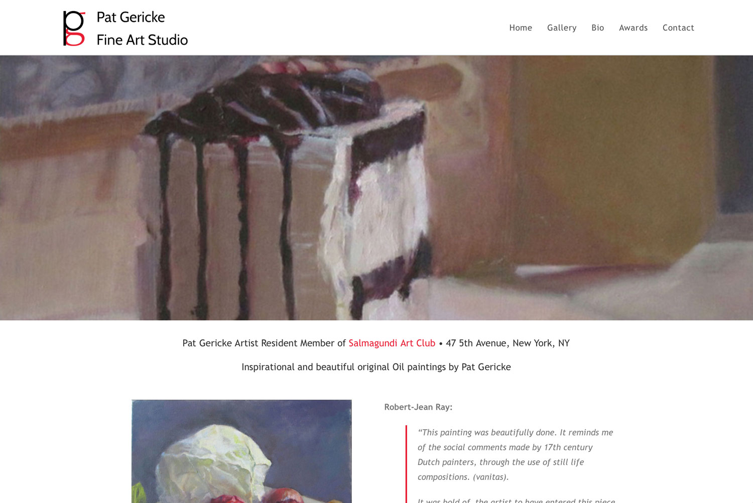 You are currently viewing Pat Gericke Fine Art Studio